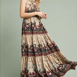 Bhanuni Floral Embellished Tiered Ruffle Dress 4